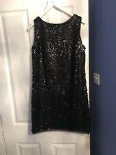 Benneton Black Sequin Party Dress Size 12