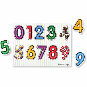 Melissa & Doug See-Inside Numbers Wooden Peg Puzzle