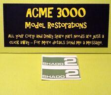 Gerry Anderson UFO Dinky 353 SHADO 2 Reproduction Restoration Side Sticker Set