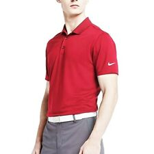 NIKE GOLF MEN'S VICTORY SOLID POLO DRI-FIT RED SMALL
