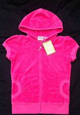 NWT Juicy Couture New Genuine Ladies Small S/Sleeve Pink Cotton Towelling Hoody