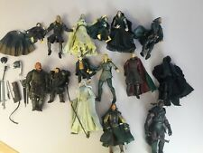 huge lot of 15 lord of the rings action figures