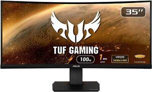 "ASUS TUF Gaming VG35VQ 35"" UWQHD VA HDR10 100Hz 1ms Adaptive-Sync Curved Monitor"