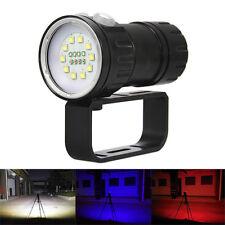 50000LM blanc rouge Bleu LED La photographie Vidéo Plongée Lampe de poche Torche