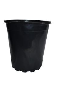 Set of 10 - 1.5 gallon Black Plastic Nursery Pots (TRADE 2 GALLON)  flower