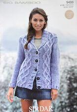 "Knitting Pattern For Ladies Chunky Cardigan Jacket Size 32/54"""