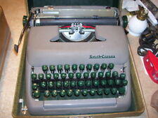 Vintage Antique 1950's Smith Corona Sterling Typewriter with Case