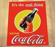 Großes Coca-Cola Coke USA 40 cm Blechschild Blech Schild - Flasche mit Hand