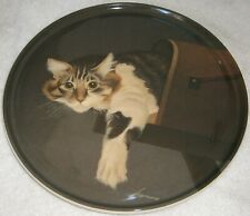 Very Good! Collectible Lowell Herrero Cat In A Mailbox Plate / Trivet ~ 6 3/4""