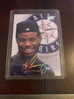 1993 Studio #96 Ken Griffey Jr. Seattle Mariners Foil Auto Signature Rare Mint!