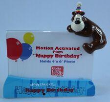 NIB - GUND Goober Bear Motion Activated Musical Happy Birthday Photo Frame 4x6