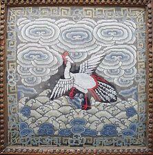 Insignia Rango 5th Chino Plata Faisán c1900 la dinastía Qing