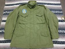 VTG 70s Vietnam US Army Military M-1965 M65 Field Coat Jacket OG-107 Large Long