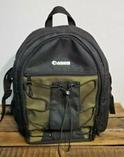 Canon Deluxe Photo Backpack 200EG for Canon EOS SLR Cameras Black w Green Accent