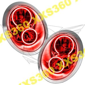 ORACLE Halo HEADLIGHTS for Mini Cooper/S 05-08 RED LED Angel Demon Eyes