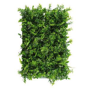 2/6/12x Artificial Greenery Plant Wall Hedge Grass Mat Fence Foliage Panel #U13
