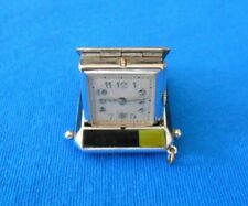 Vintage Enamel Green and Black Purse Watch, Working