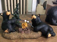Bearfoots Jeff Fleming figurine 2 bears Campfire Memories mint