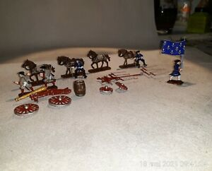 1/72 PAINTED SOLDIERS : LOUIS XIV's ARTILLERY LIMBER (5 figs )