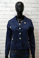 Giacca Donna Cappotto Blu LIU JO Taglia Size S Blazer Bottone Jacket Woman Slim