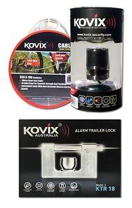 Kovix Triple Combo - KTR-18 Alarmed Trailer Lock, Bike Lock and Security Cable