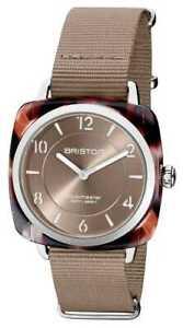 Briston Clubman Chic   Silver 36mm Taupe 21536.SA.UBR.30.NT Watch