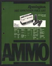 Remington Ammunition Retail Price List - December 1, 1986
