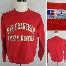 RUSSELL ATHLETIC VTG San Francisco 49ers Men's Large Red Vintage Sweatshirt EUC