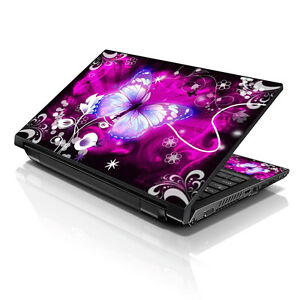 """17.3"""" 18"""" 19 Laptop Notebook Skin Sticker Protective Decal Purple Butterfly A123"""