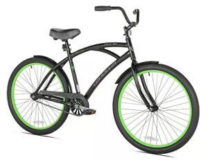 "Kent 26"" La Jolla Cruiser Men's Bike, Single Speed, Black/Green"
