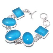 Chalcedony Gemstone Ethnic Jewelry Handmade Bracelet 28 Gms Rb-23190