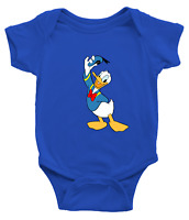 Infant Baby Rib Bodysuit Clothes shower Gift Donald Duck Classic Walt Disney