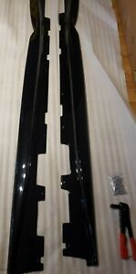 New For 16-Up Camaro RS & SS T6 Style ABS Plastic Side Skirts Rocker Gloss Black