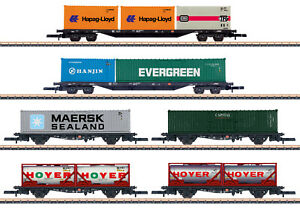 Märklin 82665 Spur Z Containertragwagen-Set der DB AG 6-teilig #NEU OVP#