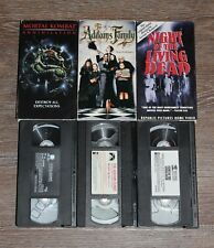 VHS Horror/Action Lot - TESTED - Night of the Living Dead, Addams Family, MK