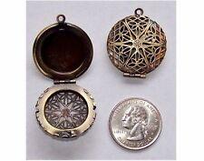 Perfume Locket Bronze locket 26mm Filigree Locket Scent solid perfume  469x