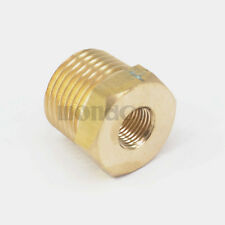 """1/2"""" BSPT Male x 1/8"""" NPT Female Reducing Bushing Brass Pipe Fitting Connector"""