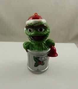 Oscar the grouch Sesame street garbage can Christmas ornament Kurt S. Adler