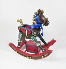 Vintage Rocking Horse Music Box We Wish You a Merry Christmas Enesco Holiday