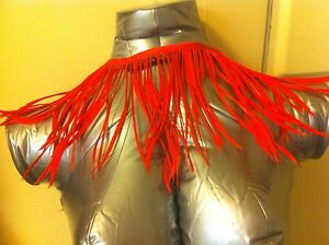 New HERESY Brand RED FEATHER TRIM NECKLACE BELT GOTH FANTASY VAMP COSTUME