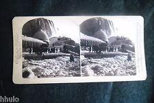 STB007 Pont de Glace Niagara falls chute STEREO albumen Photography Stereoview