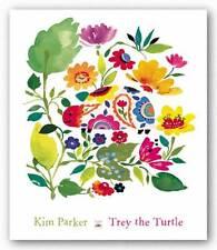 FLORAL ART PRINT Trey the Turtle Kim Parker