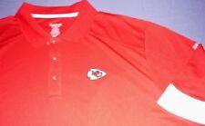 Kansas City Chiefs Horizon Sideline Polo Shirt Large Long Sleeve Red Reebok NFL