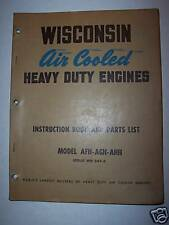 Operator & Parts Manual-Wisconsin Engine Afh, Ash, Ahh