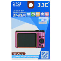 JJC LCP-ZR1200 LCD Camera Screen Display Protector for CASIO EXILIM EX-ZR1200