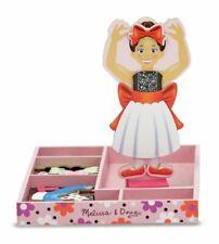 Melissa & Doug Nina Ballerina 13554 Magnetic Wooden Toy Doll Dress up Play Set