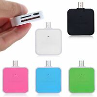 2 in1 Mini Micro USB Memory Card Reader OTG Adapter for TF/SD/Micro SD Card