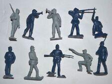 Marx ACW Set 1 Blu & Grigio 60mm PLASTICA NON VERNICIATA Figure riemettere (1990)