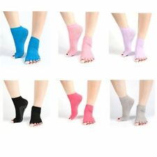 Women 5 Toes Yoga Sport Dance Ankle Grip Non Slip Massage Fitness Half Toe Socks