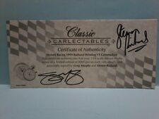 CLASSIC CARLECTABLES 18004 1/18 CERTIFICATE for Wynns 1999 Bathurst winner VT
